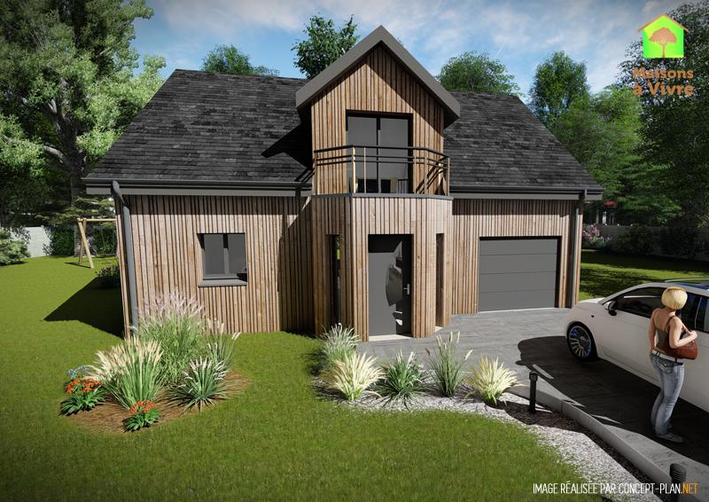 Choisissez le mod le de constuction ossature bois aulne for Maison neuve originale