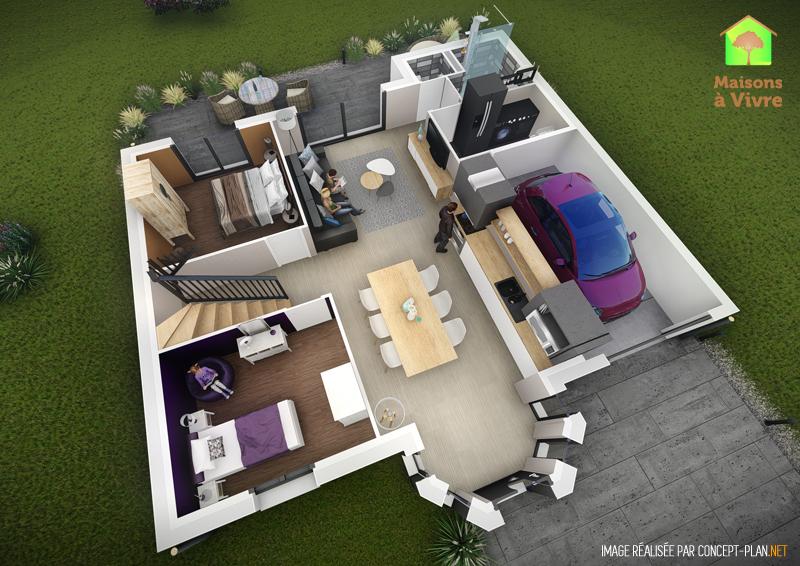 Exemple D Aménagement Intérieur Rdc Maison Neuve Modèle