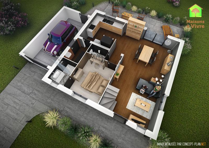 voici le mod le de maison neuve charme de la gamme actuel. Black Bedroom Furniture Sets. Home Design Ideas