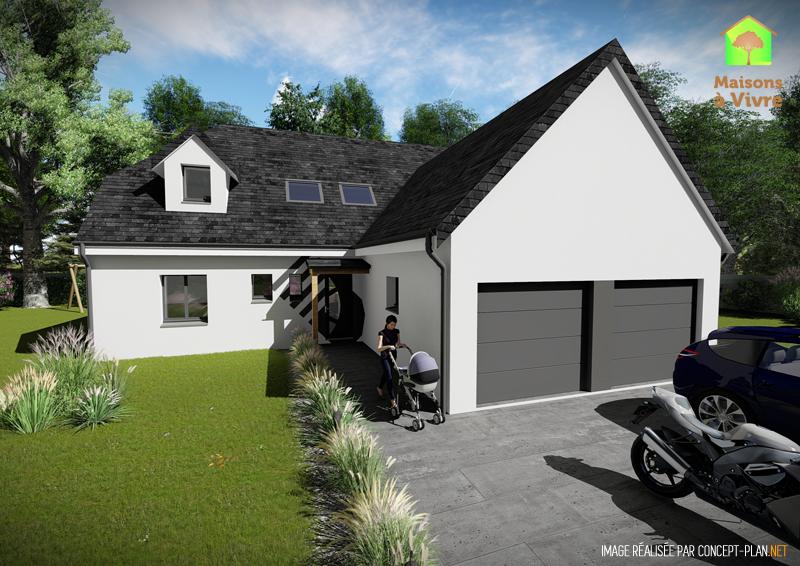 voici le mod le de maison neuve panorama de la gamme actuel maisons vivre. Black Bedroom Furniture Sets. Home Design Ideas