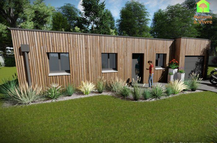 Modèle-de-maison-neuve-ossature-bois-toit-plat-Amarante-Maisons-à-Vivre