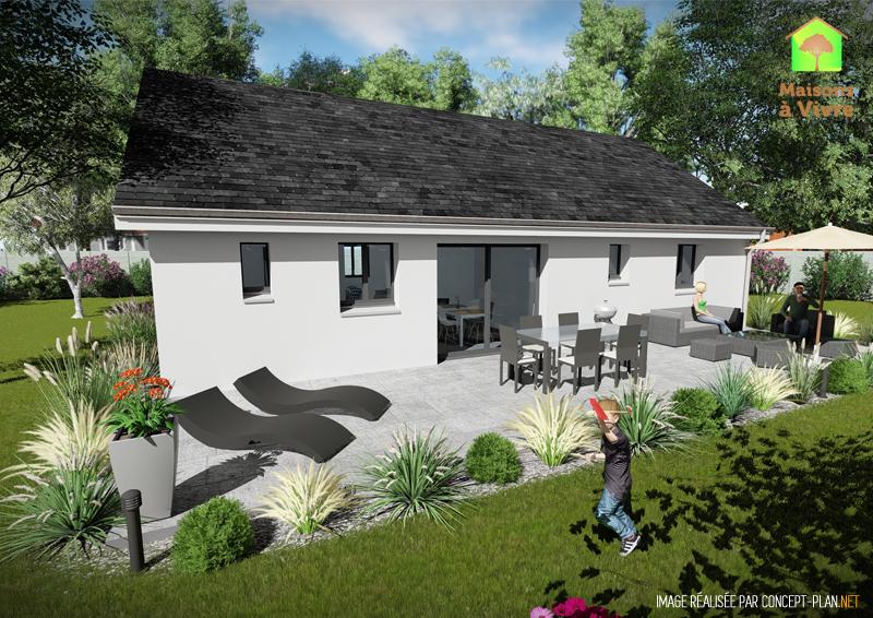 Vue-extérieure-arrière-maison-neuve-modèle-amarante-Actuel-Maisons-à-Vivre