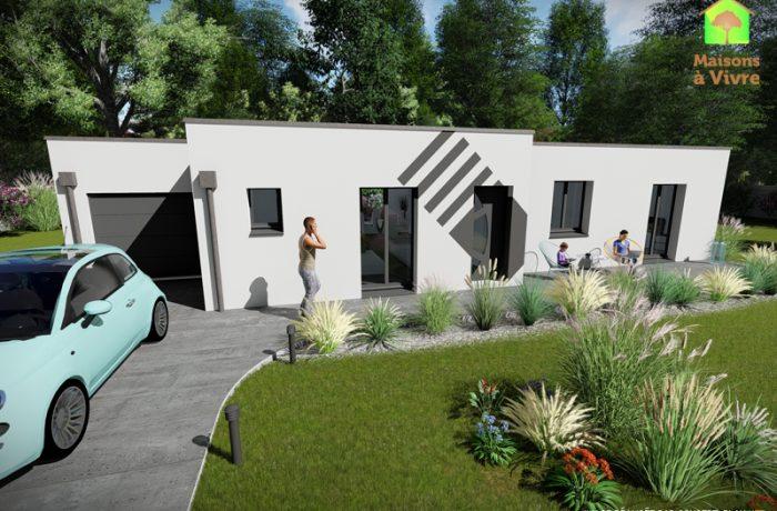 Modèle-de-maison-neuve-toit-plat-Glycine-Contemporain-Maisons-à-Vivre