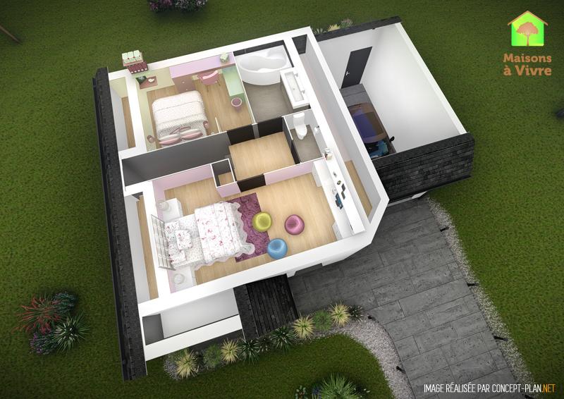 Exemple-d-aménagement-intérieur-étage-maison-neuve-modèle-Camelia-Actuel-Maisons-à-Vivre