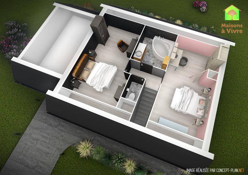 Voici le modèle de maison neuve Charme de la gamme Actuel Maisons à ...