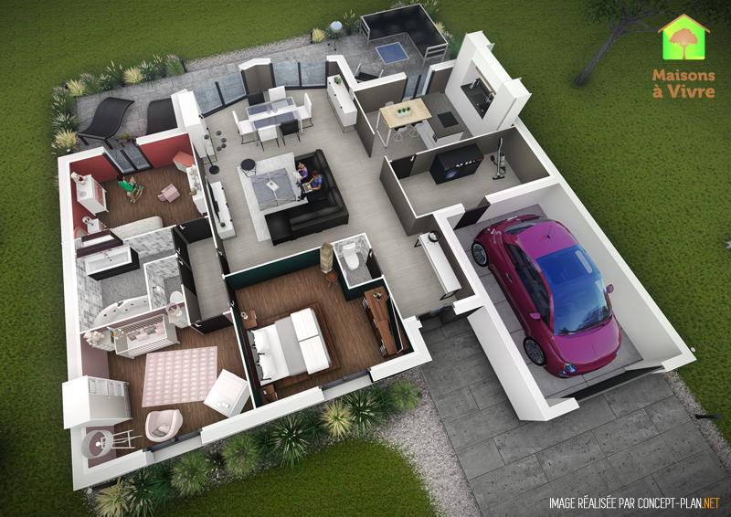 Exemple-d-aménagement-intérieur-maison-neuve-modèle-Evolution-Actuel-Maisons-à-Vivre