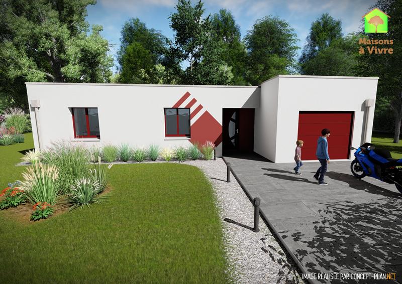 Modèle-de-maison-neuve-toit-plat-Évolution-Contemporain-Maisons-à-Vivre