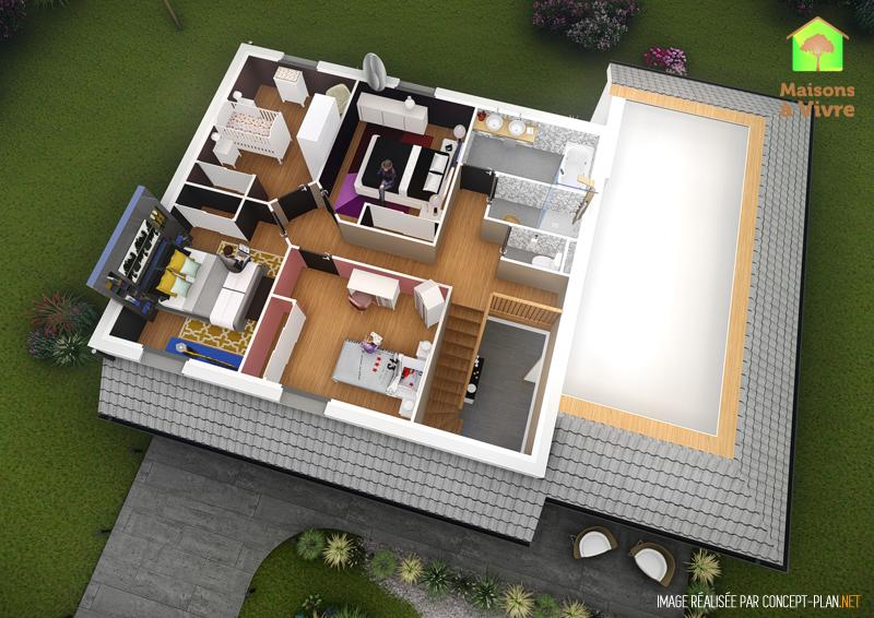 Exemple-d-aménagement-intérieur-étage-maison-neuve-modèle-Horizon-Actuel-Maisons-à-Vivre