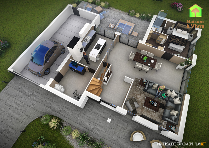 Exemple-d-aménagement-intérieur-rdc-maison-neuve-modèle-Horizon-Actuel-Maisons-à-Vivre