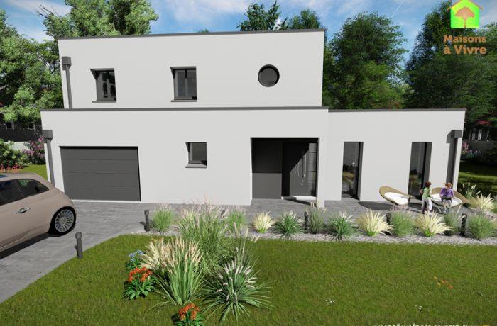 Choisissez Le Modèle De Maison Neuve à Toit Plat Horizon De