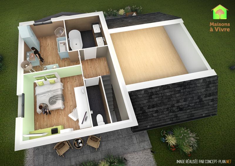 Exemple-d-aménagement-intérieur-étage-maison-neuve-modèle-Lilas-Actuel-Maisons-à-Vivre