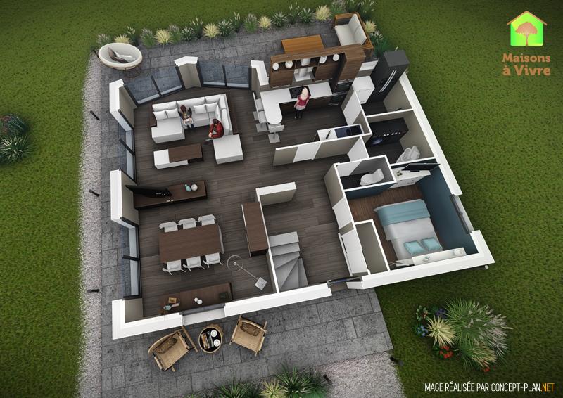 Exemple-d-aménagement-intérieur-rdc-maison-neuve-modèle-Lilas-Actuel-Maisons-à-Vivre