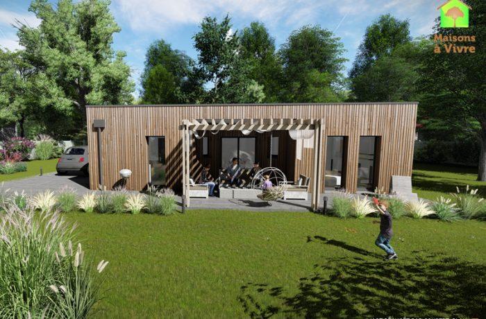 Modèle-de-maison-neuve-ossature-bois-toit-plat-Orme-Maisons-à-Vivre