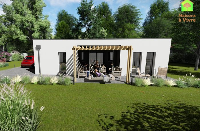 Modèle-de-maison-neuve-toit-plat-Orme-Contemporain-Maisons-à-Vivre