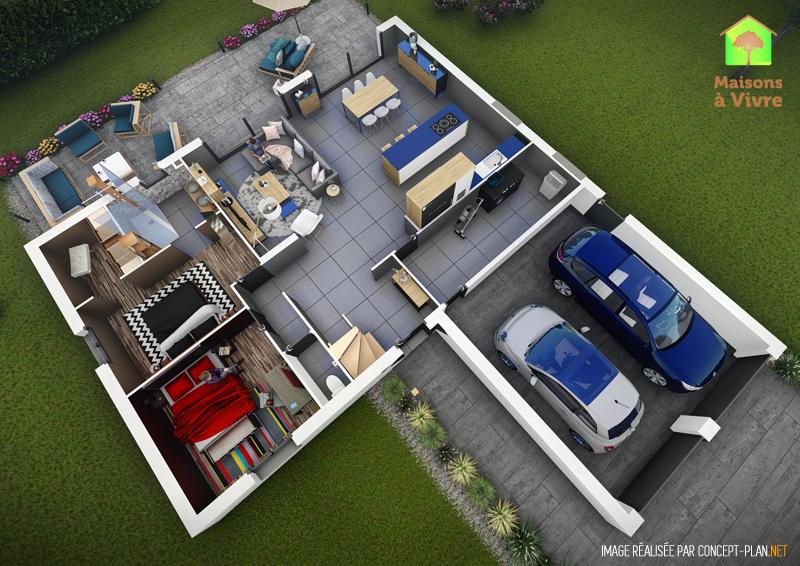 Exemple-d-aménagement-intérieur-rdc-maison-neuve-modèle-Panorama-Actuel-Maisons-à-Vivre