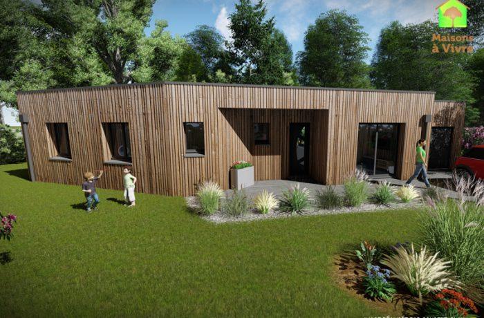 Modèle-de-maison-neuve-ossature-bois-toit-plat-Vision-Maisons-à-Vivre