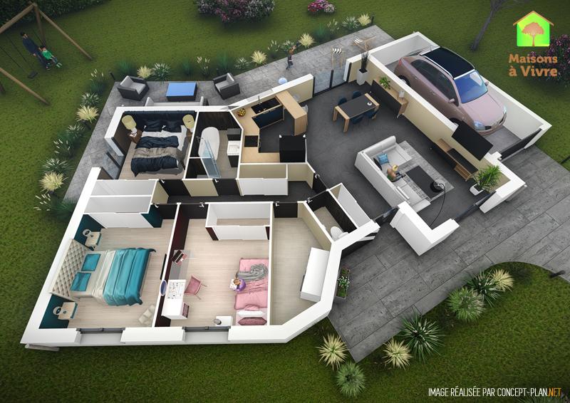 Exemple-d-aménagement-intérieur-maison-neuve-modèle-Vision-Actuel-Maisons-à-Vivre
