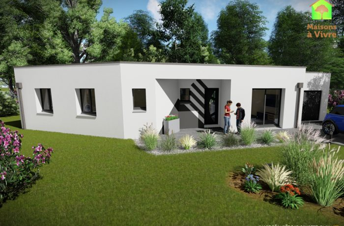 Modèle-de-maison-neuve-toit-plat-Vision-Contemporain-Maisons-à-Vivre